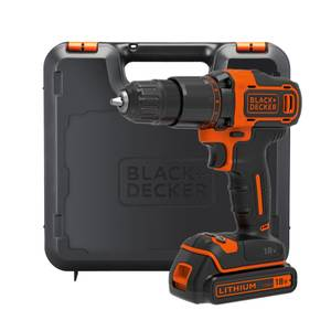 BLACK+DECKER 2 Speed 18V Cordless Combi Drill with Kit Box (BCD700S1K-GB)