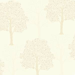 Holden Decor Ornella Tree Embossed Metallic Glitter Cream Wallpaper