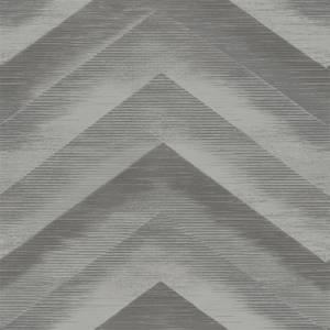 Holden Decor Cascade Plain Textured Metallic Charcoal and Silver Wallpaper