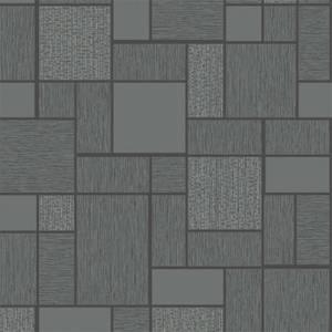 Holden Decor Glitter Tile Textured Glitter Black Wallpaper