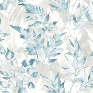 Holden Decor Bracken Tree Smooth Metallic Teal Wallpaper
