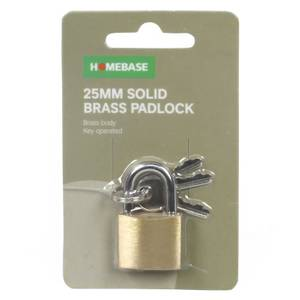 Solid Brass Padlock - 25mm