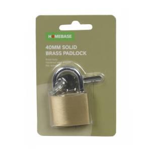 Solid Brass Padlock - 40mm