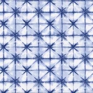 Holden Decor Azure Geometric Smooth Metallic Navy Wallpaper