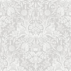 Holden Decor Harlen Damask Smooth  Grey Wallpaper