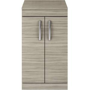 Balterley Rio 500mm Freestanding 2 Door Vanity With Worktop - Driftwood