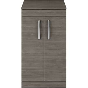 Balterley Rio 500mm Freestanding 2 Door Vanity With Worktop - Grey Avola