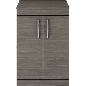 Balterley Rio 600mm Freestanding 2 Door Vanity With Worktop - Grey Avola