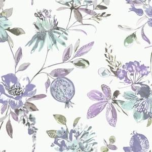 Holden Decor Punica Floral Smooth Metallic Heather Wallpaper