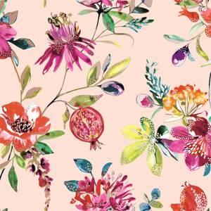 Holden Decor Punica Floral Smooth Metallic Blush Pink Wallpaper