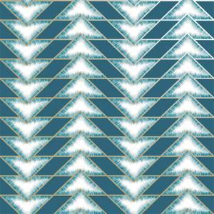 Holden Decor Eiger Geometric Smooth Metallic Teal Wallpaper