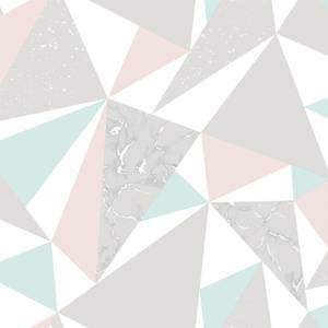 Holden Decor Glacier Geometric Smooth Metallic Pink and Soft Teal Wallpaper