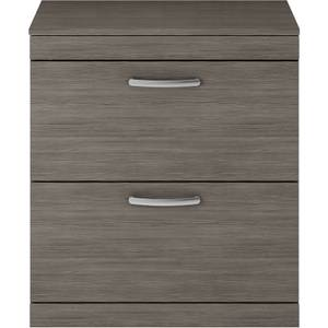 Balterley Rio 800mm Freestanding 2 Drawer Vanity With Worktop - Grey Avola
