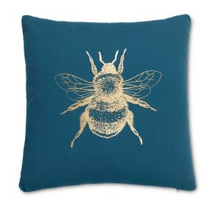 Bee Cushion - Teal and Gold