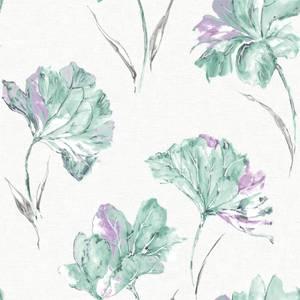 Holden Decor Azalea Floral Smooth Metallic Lilac Wallpaper