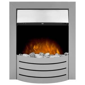 Adam Comet Electric Inset Fire in Brushed Steel