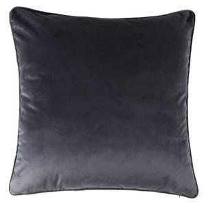 Large Plain Velvet Cushion - Dark Grey