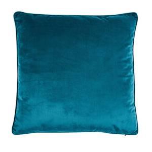 Large Plain Velvet Cushion - Teal