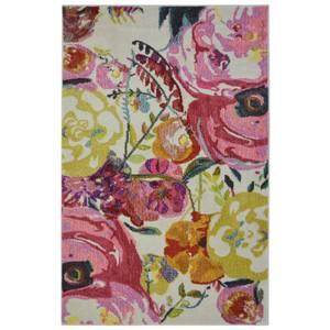 Villa Watercolour Floral Rug - 80 x 150cm