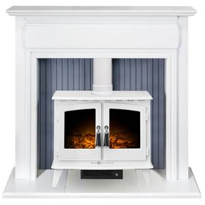 Adam Florence in White with Woodhouse Electric Stove in White