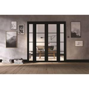 Soho Room Divider W6 - Black - 2031 x 1904 x 35mm