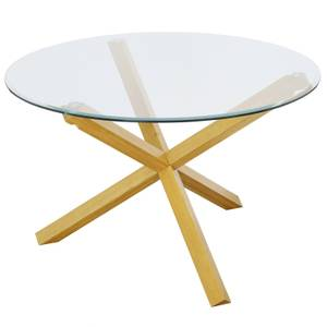 Oporto Dining Table - Oak & Glass