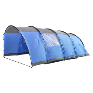 Charles Bentley 6 Person Camping Tunnel Tent - Blue