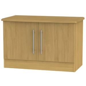 Siena Low 2 Door Sideboard - Modern Oak