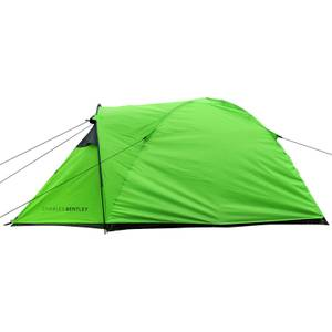 Charles Bentley 2 Person Camping Tent With Awning - Green