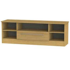 Siena Wide Open TV Unit - Modern Oak
