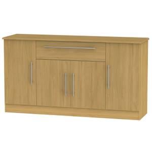Siena Wide 4 Door 1 Drawer Sideboard - Modern Oak