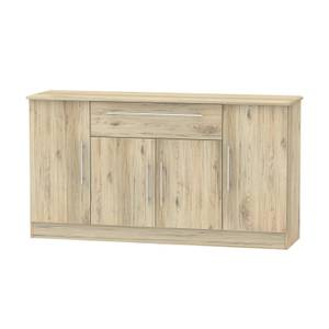 Siena Wide 4 Door 1 Drawer Sideboard - Bordeaux Oak