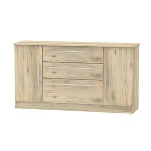 Siena Wide 2 Door 3 Drawer Sideboard - Bordeaux Oak