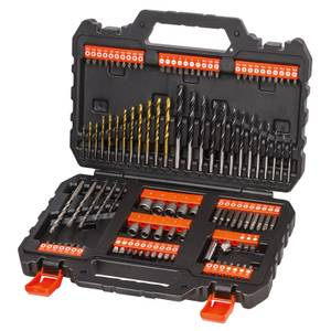 BLACK+DECKER 109 Piece Mixed Drilling & Screwdriving Accessory Set