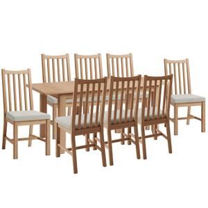 Kea 1.6m Extending 8 Seater Dining Set - Oak