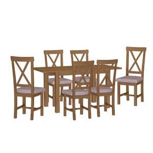 Newlyn 1.2m Extending 6 Seater Dining Set - Oak