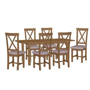 Newlyn 1.6m Extending 6 Seater Dining Set - Oak
