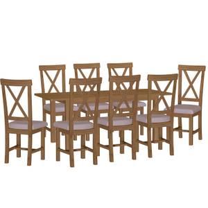 Newlyn 1.6m Extending 8 Seater Dining Set - Oak