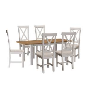 Padstow 1.6m Extending 6 Seater Dining Set - Grey