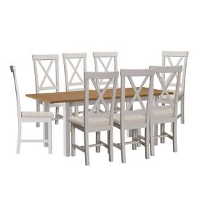 Padstow 1.6m Extending 8 Seater Dining Set - Grey