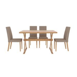 Seville 4 Seater Dining Set - Evesham Dining Chairs - Beige