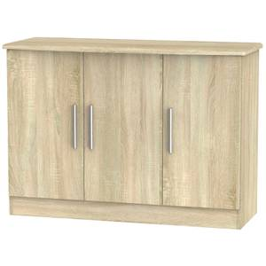 Kensington 3 Door Sideboard - Bardolino Light Oak