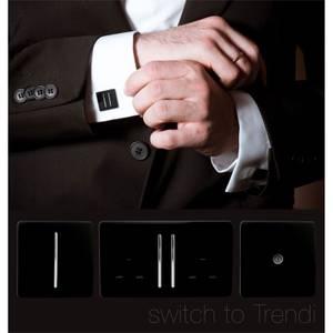 Trendi Switch Fused Spur Switch in Screwless Black