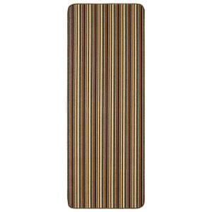 Java washable stripe runner -Brown