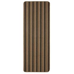 Java washable stripe runner -Chocolate