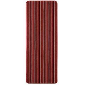 Java washable stripe runner -Red