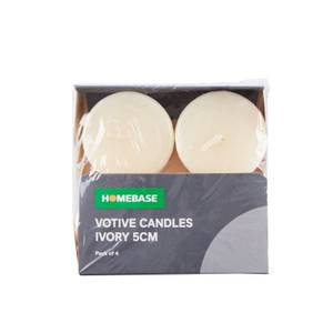 4 x Votive Candles - Ivory