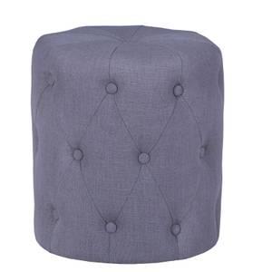 Upholstered Stool - Grey