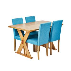 Seville 4 Seater Dining Set - Anna Dining Chairs - Teal