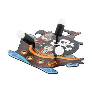 Eglo San Carlo Childrens Ceiling Light with Pirates - Black